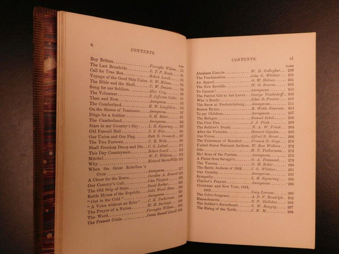 1864 CIVIL WAR Lyrics of Loyalty SIGNED Longfellow - 7