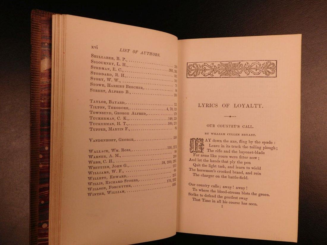 1864 CIVIL WAR Lyrics of Loyalty SIGNED Longfellow - 9