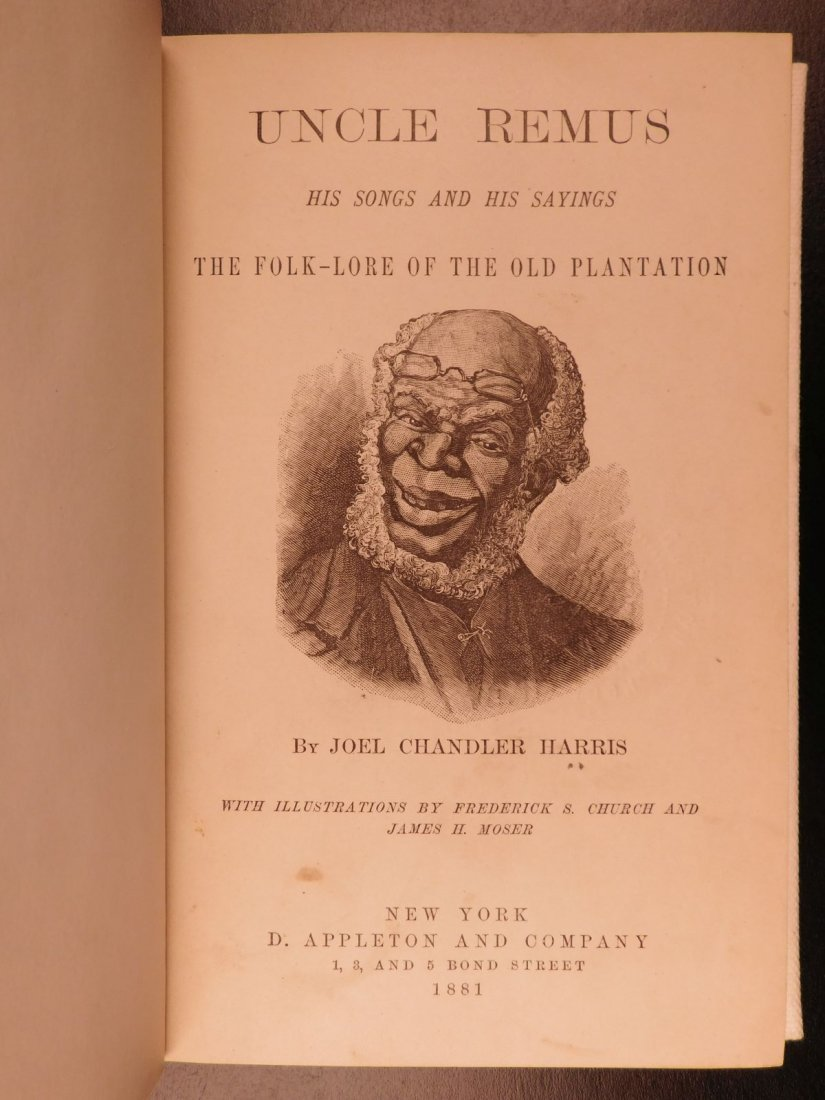 1881 1st ed Uncle Remus Harris Slavery Song of South - 2