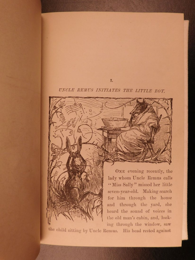 1881 1st ed Uncle Remus Harris Slavery Song of South - 4