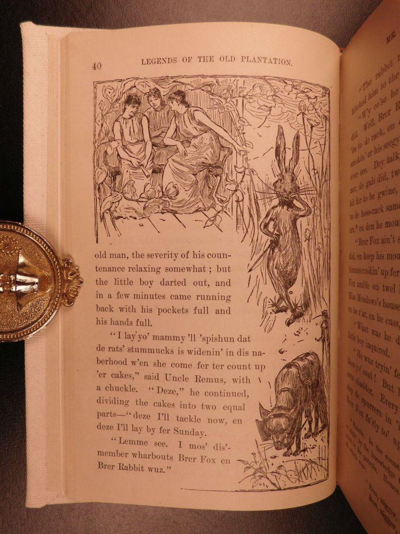 1881 1st ed Uncle Remus Harris Slavery Song of South - 6