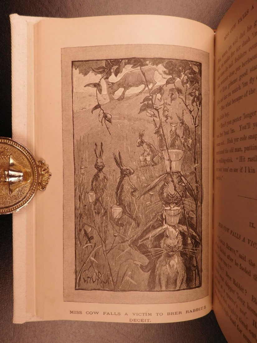 1881 1st ed Uncle Remus Harris Slavery Song of South - 7