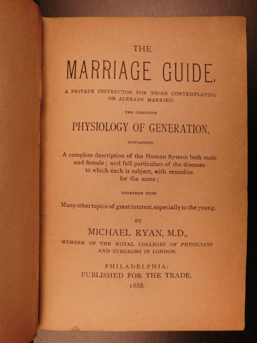 1888 The Marriage Guide Medicine Sexuality Physiology - 2
