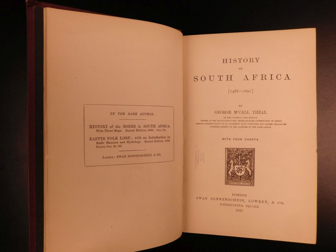 1888 History of South Africa Theal Hottentot Chinese - 3