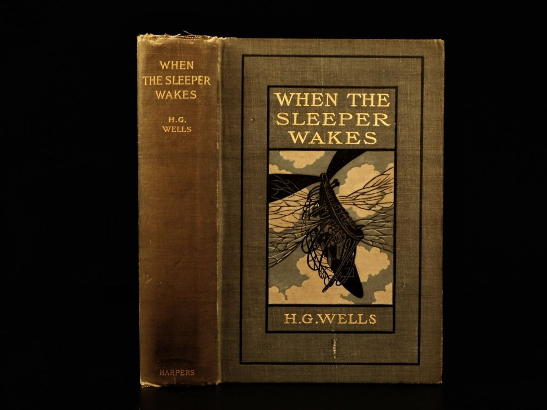 1899 1st US ed When the Sleeper Wakes HG Wells Dystopia