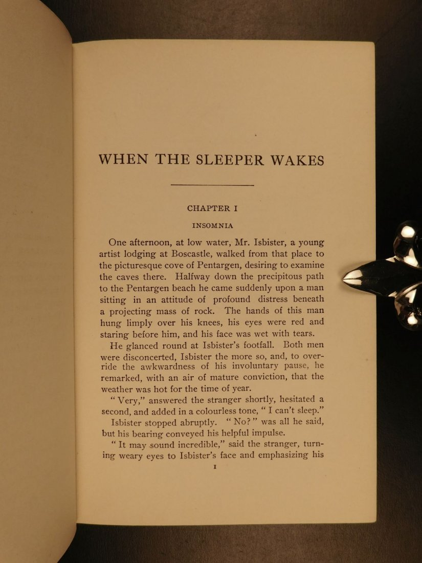 1899 1st US ed When the Sleeper Wakes HG Wells Dystopia - 5