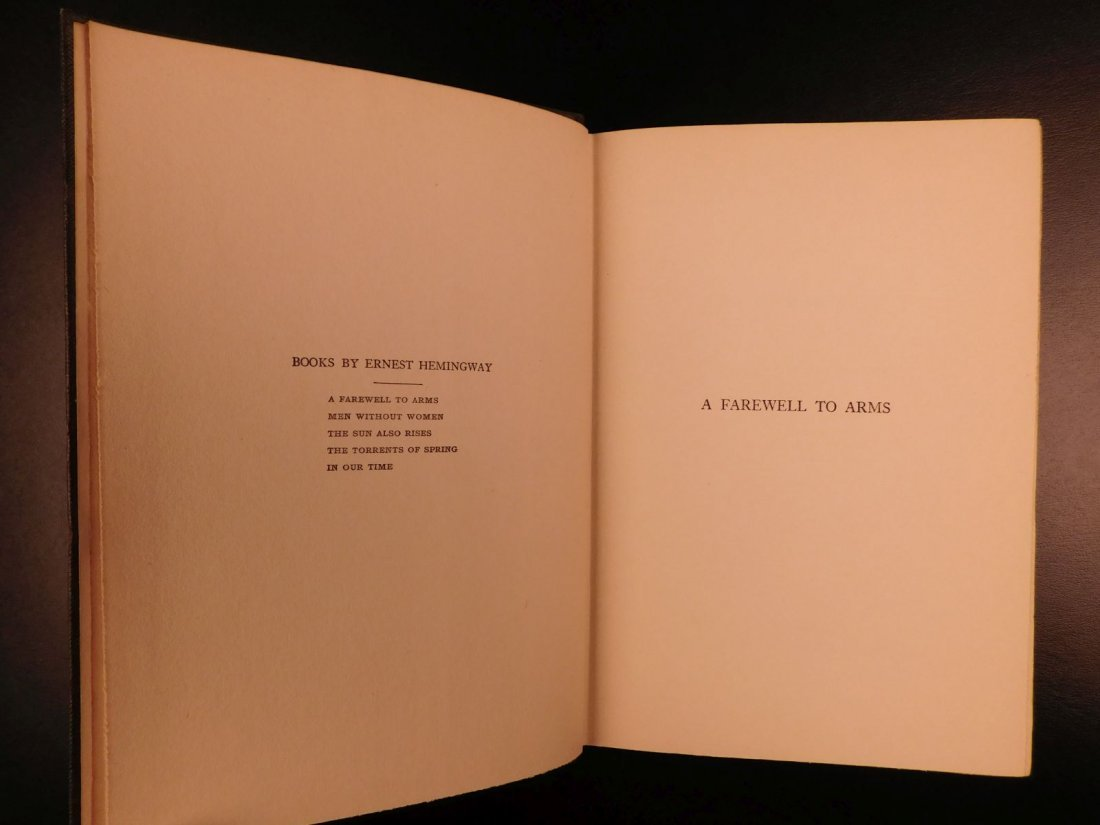 1929 1st/1st Farewell to Arms Hemingway World War I - 4