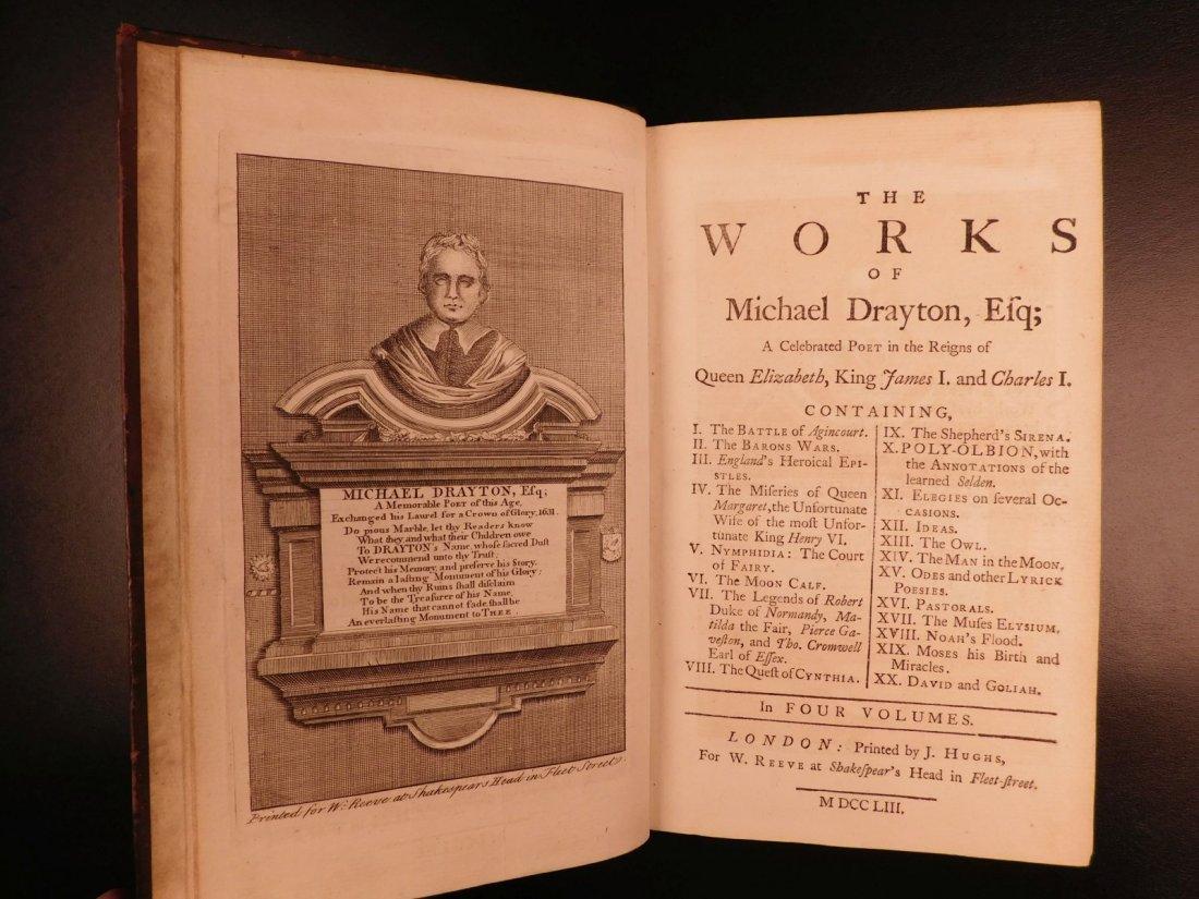 1753 Works of Michael Drayton Elizabethan English Poet - 3