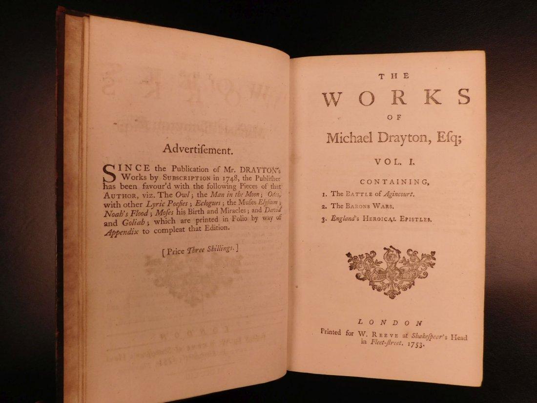 1753 Works of Michael Drayton Elizabethan English Poet - 4