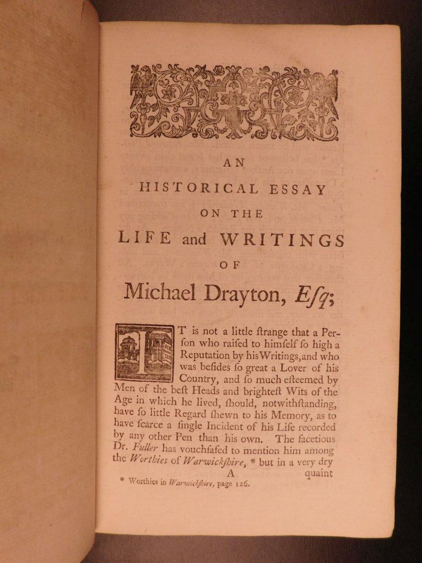 1753 Works of Michael Drayton Elizabethan English Poet - 5