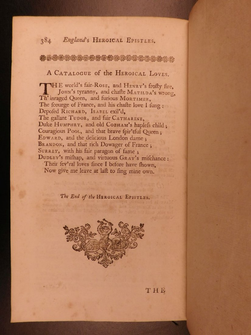 1753 Works of Michael Drayton Elizabethan English Poet - 8