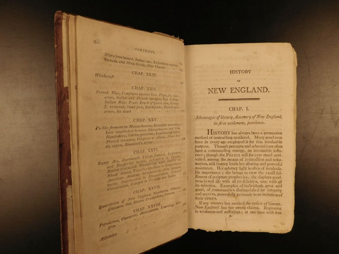 1804 AMERICANA Jedidiah Morse History of New England - 6