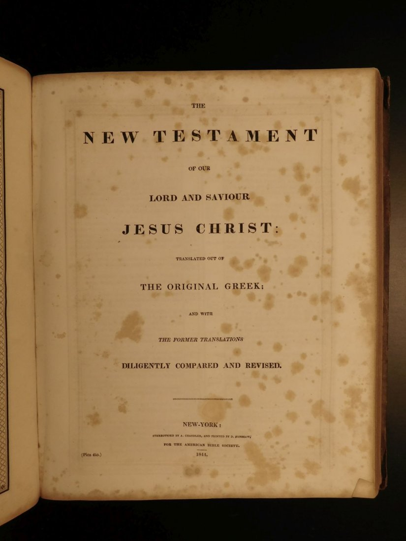 1844 King James Holy BIBLE New York Old & New Testament - 10