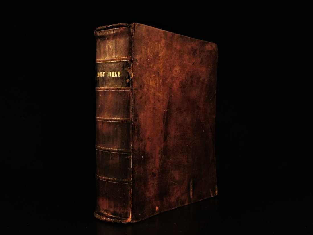1844 King James Holy BIBLE New York Old & New Testament