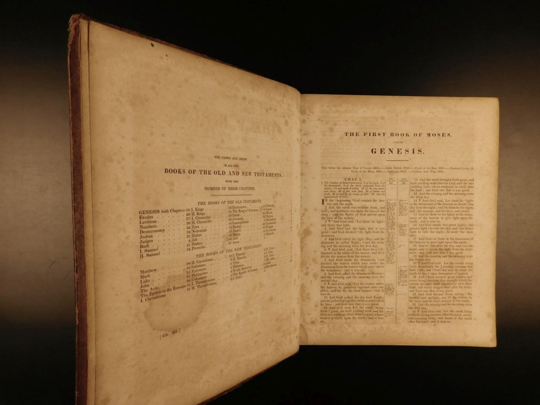 1844 King James Holy BIBLE New York Old & New Testament - 4