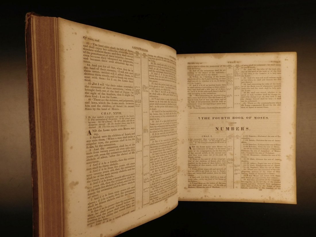 1844 King James Holy BIBLE New York Old & New Testament - 7