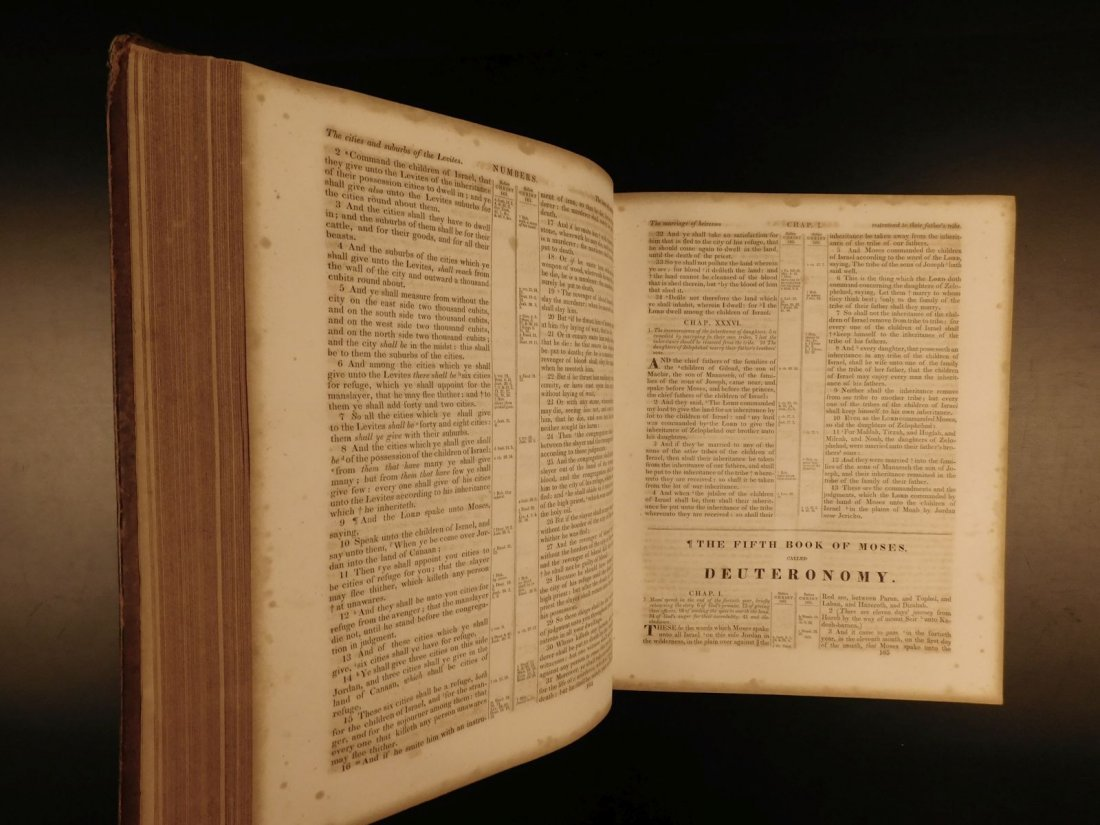 1844 King James Holy BIBLE New York Old & New Testament - 8
