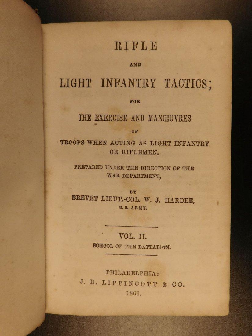 1863 Hardee Rifle & Light Infantry Tactics Civil War - 2