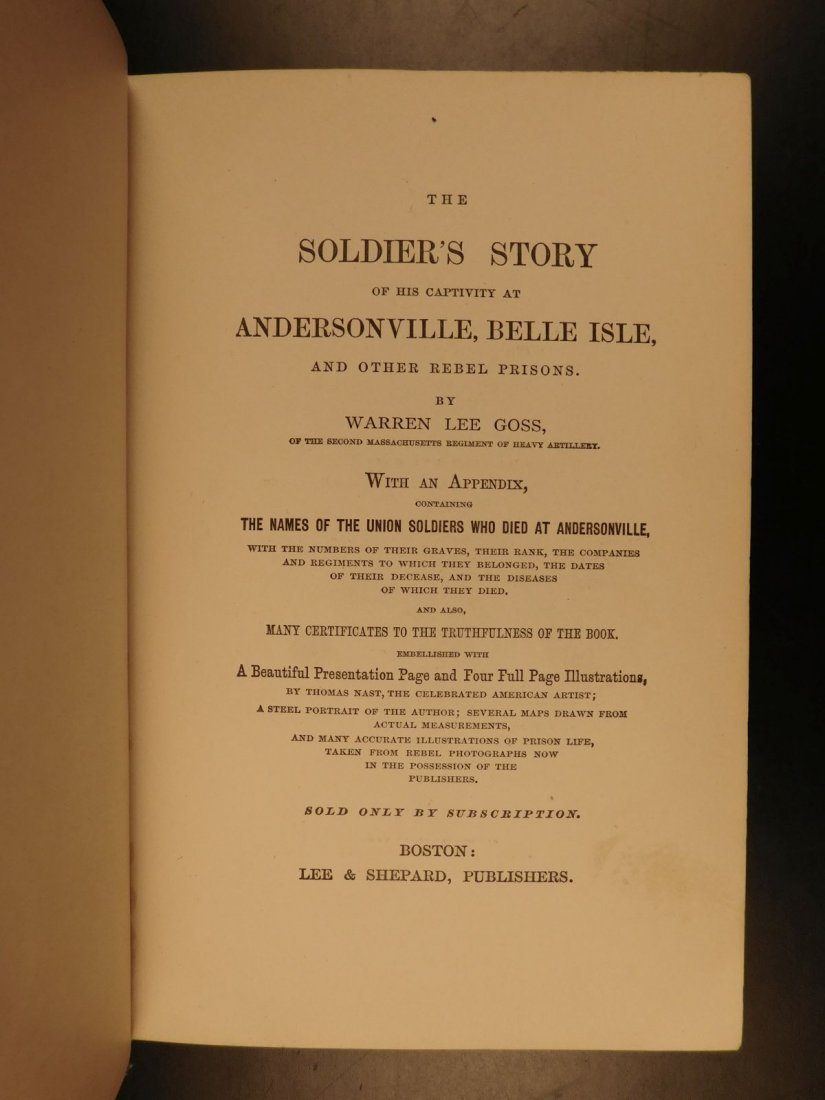 1866 1ed Andersonville Soldier's Story CIVIL WAR - 3