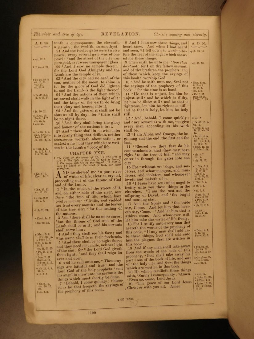 1868 BEAUTIFUL King James Holy BIBLE American Bible - 10