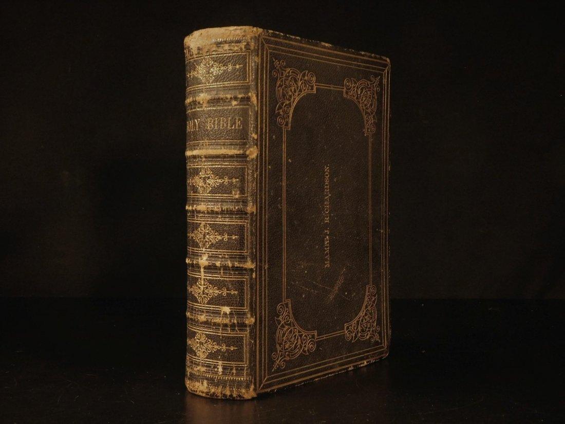 1868 BEAUTIFUL King James Holy BIBLE American Bible