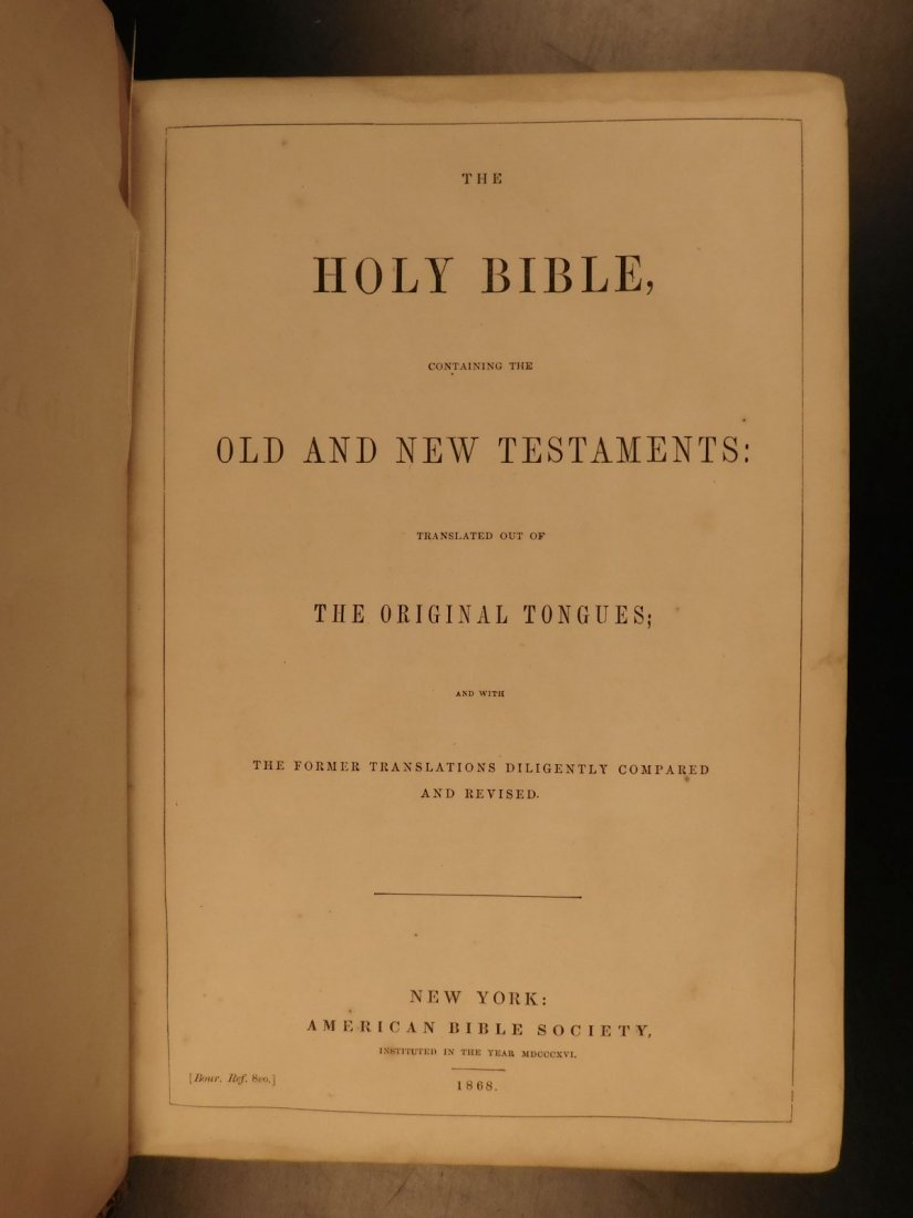 1868 BEAUTIFUL King James Holy BIBLE American Bible - 2