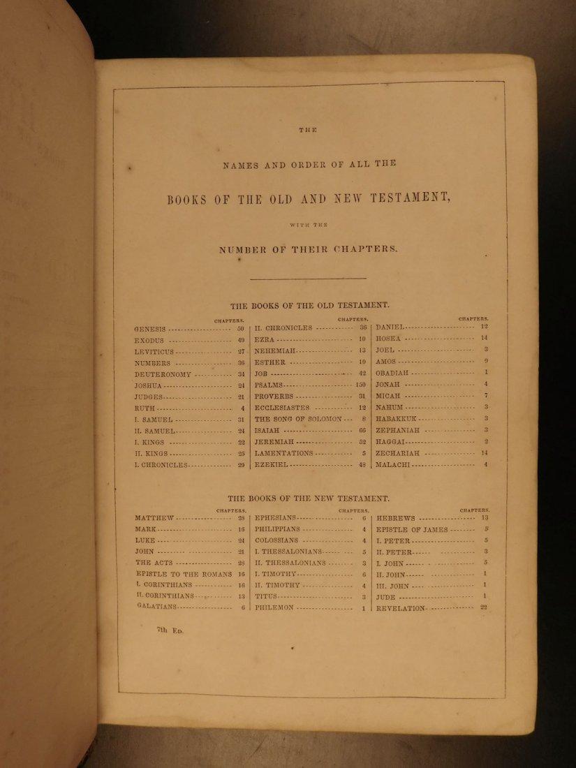 1868 BEAUTIFUL King James Holy BIBLE American Bible - 3