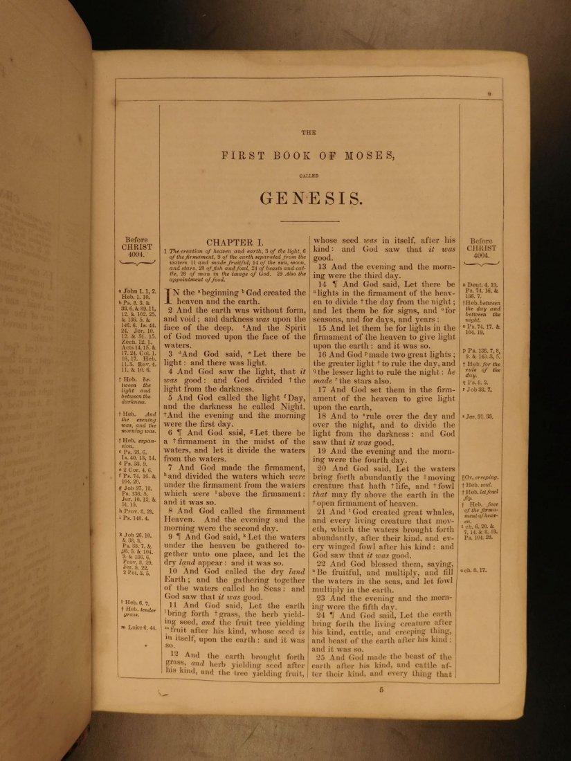 1868 BEAUTIFUL King James Holy BIBLE American Bible - 4