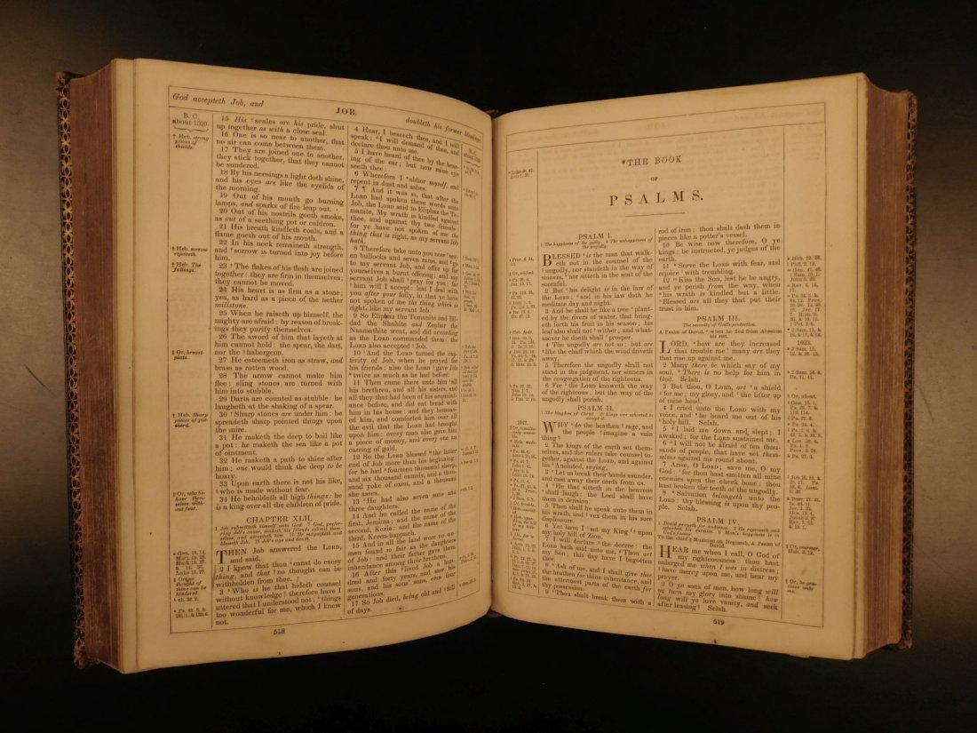 1868 BEAUTIFUL King James Holy BIBLE American Bible - 6