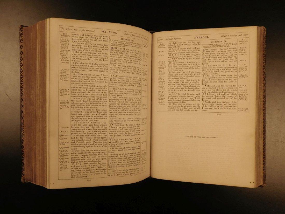 1868 BEAUTIFUL King James Holy BIBLE American Bible - 7