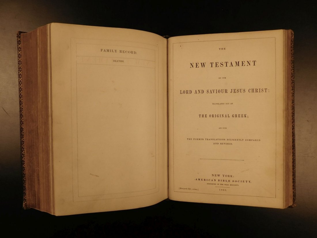 1868 BEAUTIFUL King James Holy BIBLE American Bible - 8