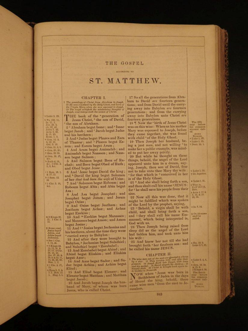 1868 BEAUTIFUL King James Holy BIBLE American Bible - 9