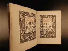 1912 1st ed Hubbard American Bible Thomas Jefferson