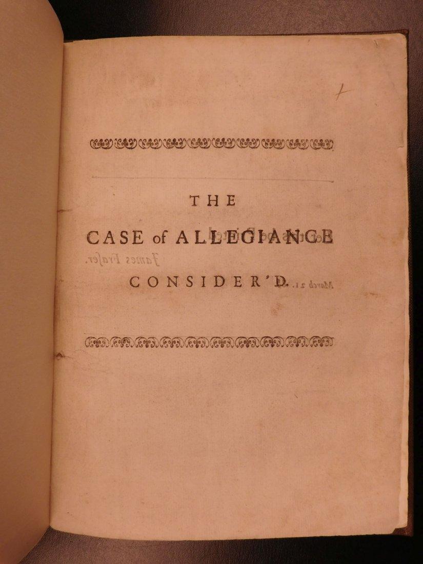 1689 1st ed Glorious Revolution Allegiance James II - 2