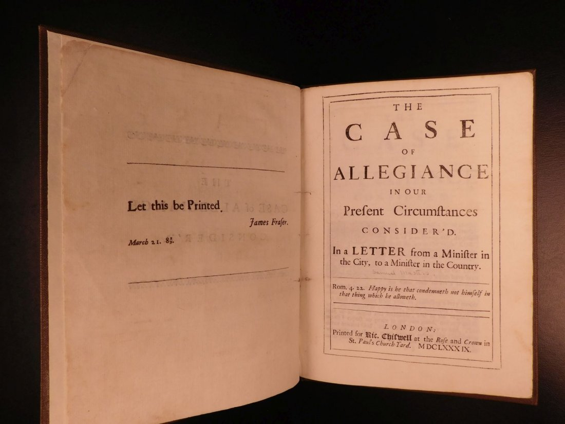 1689 1st ed Glorious Revolution Allegiance James II - 3