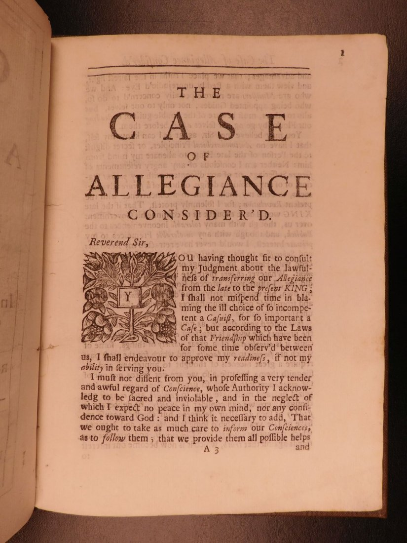 1689 1st ed Glorious Revolution Allegiance James II - 4