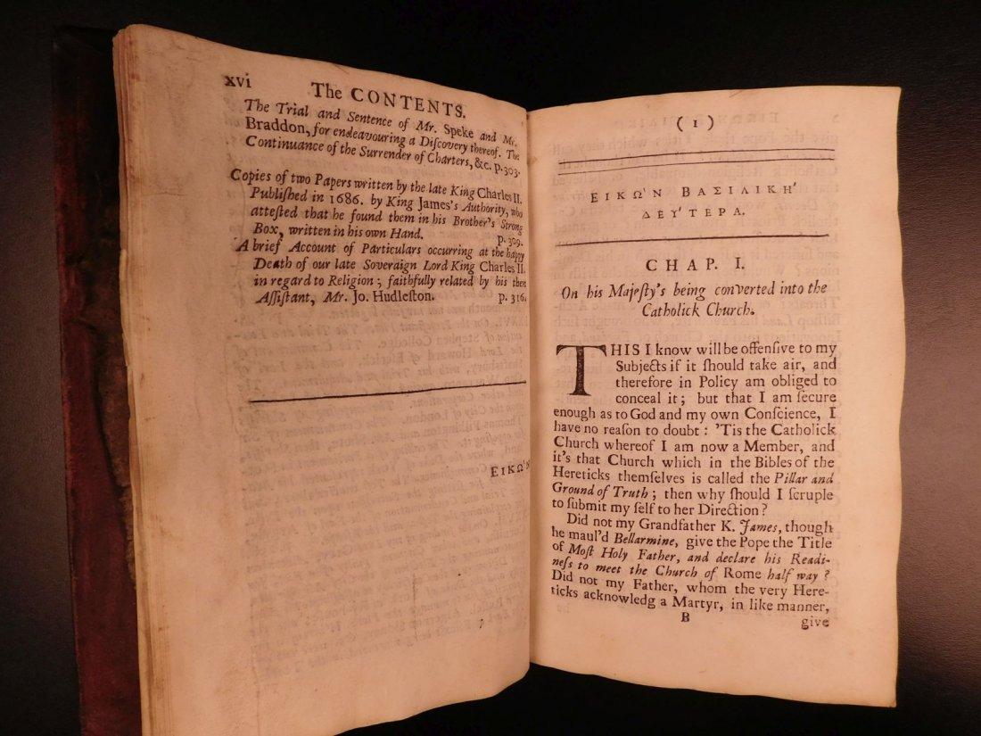 1694 Eikon Basilike Trial of King Charles I of English - 10