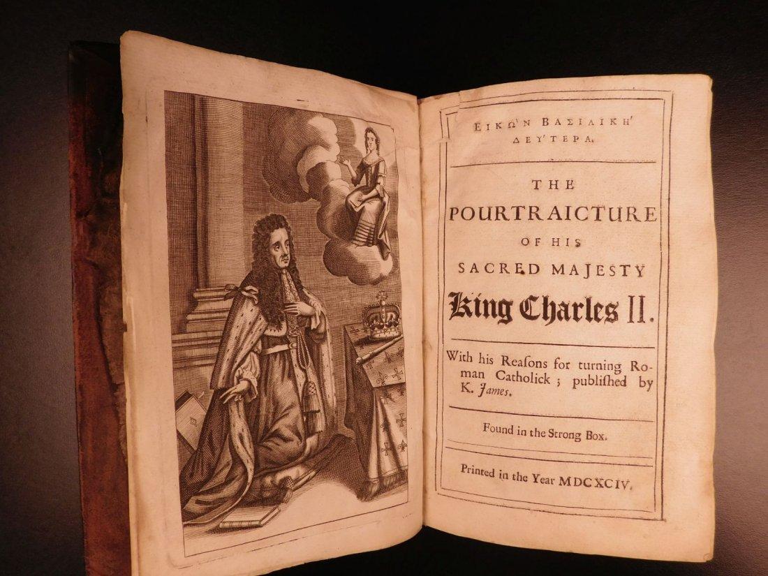 1694 Eikon Basilike Trial of King Charles I of English