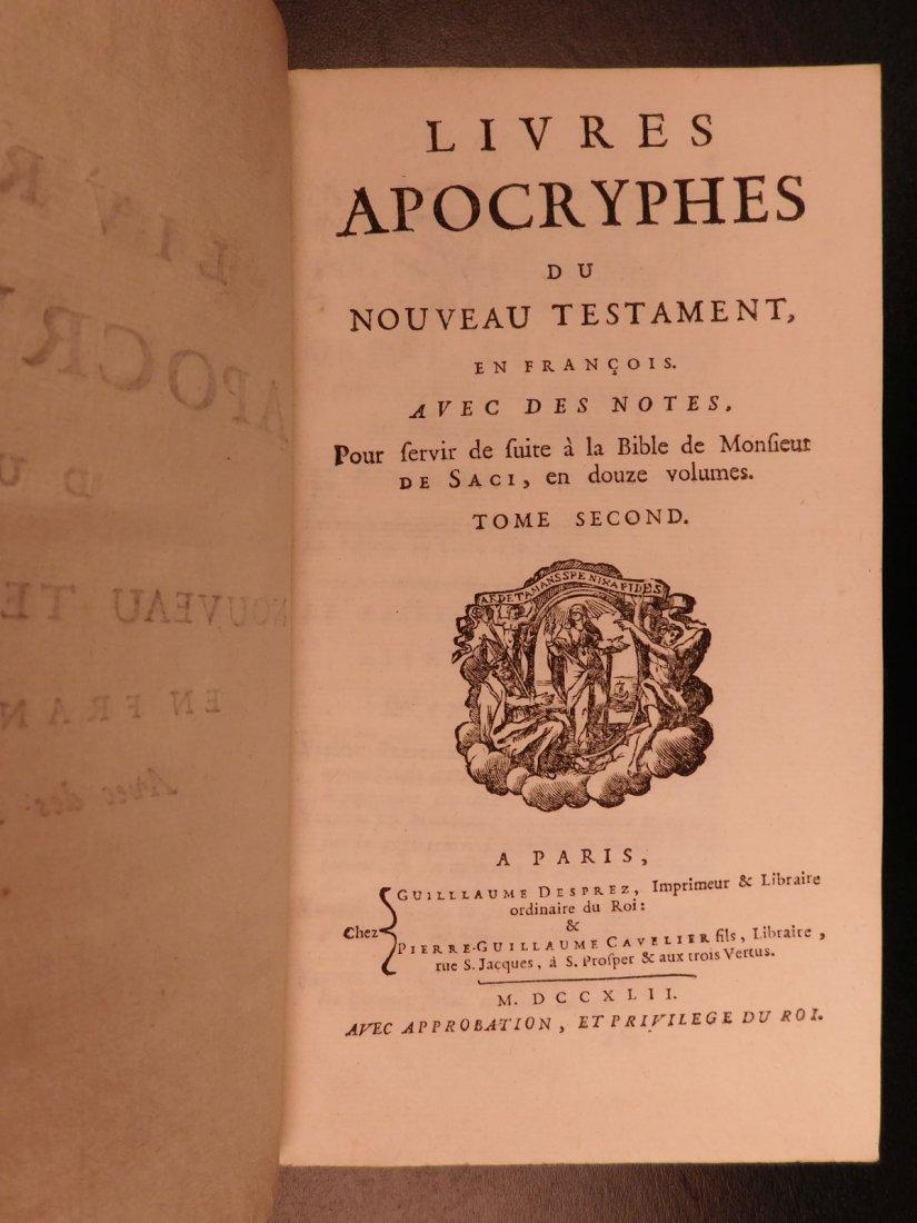 1742 EXQUISITE French Holy Bible Biblia Sacra + SACY Co - 10