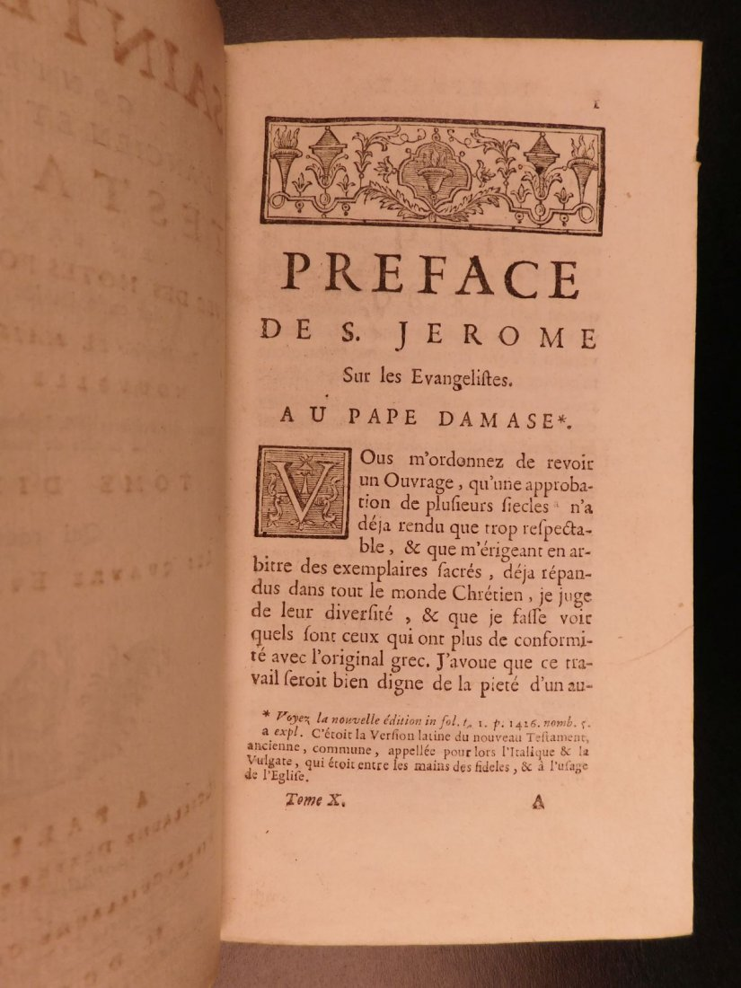 1742 EXQUISITE French Holy Bible Biblia Sacra + SACY Co - 8