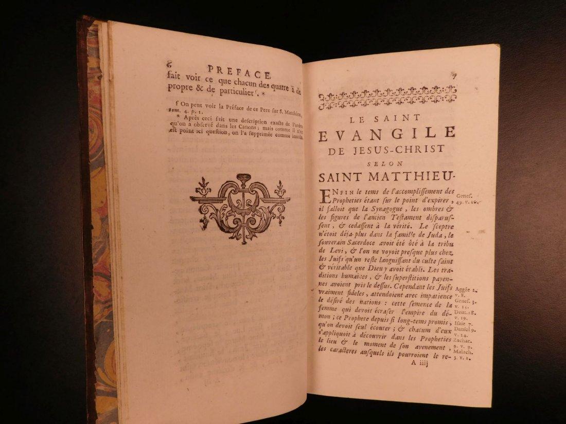 1742 EXQUISITE French Holy Bible Biblia Sacra + SACY Co - 9