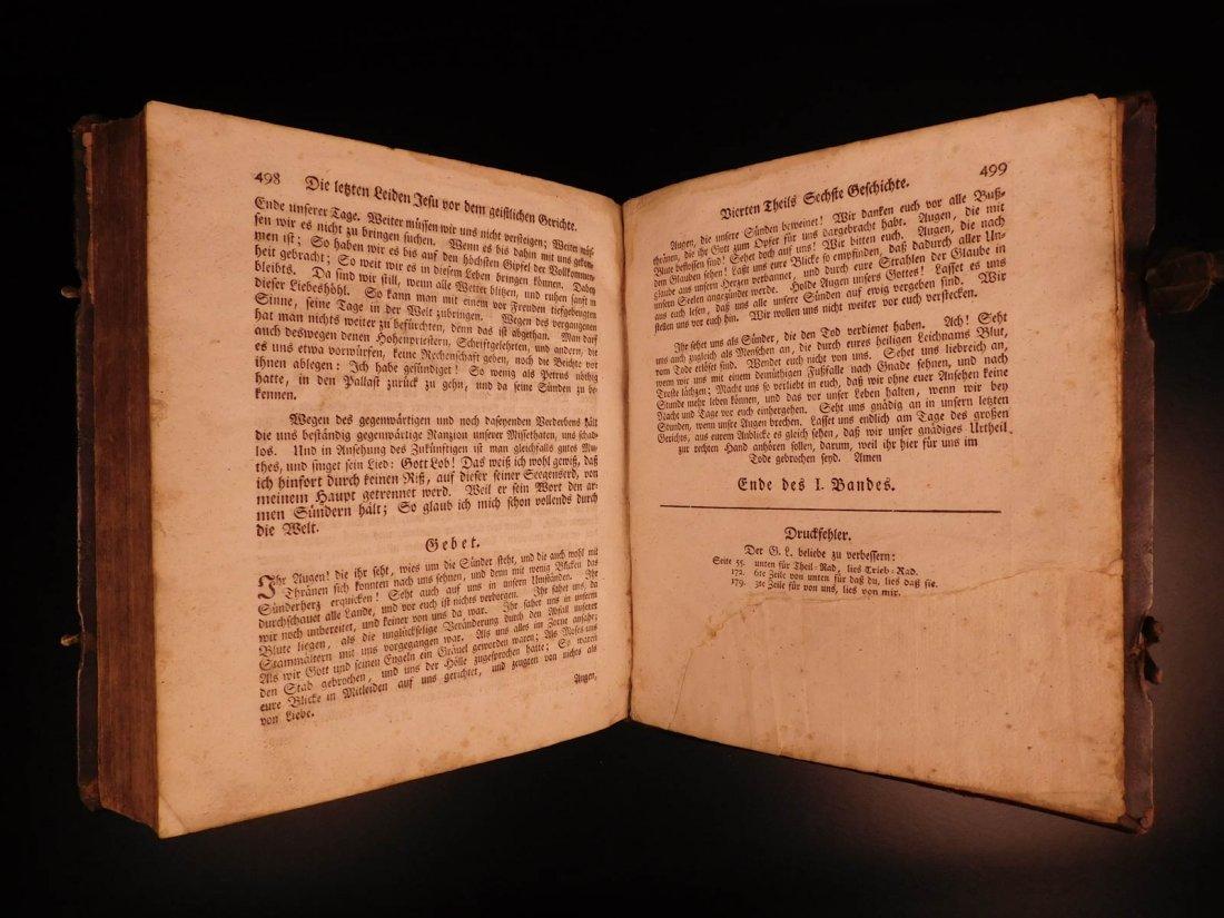 1761 German Lutheran Book Prayers Bible Jesus Flensburg - 10