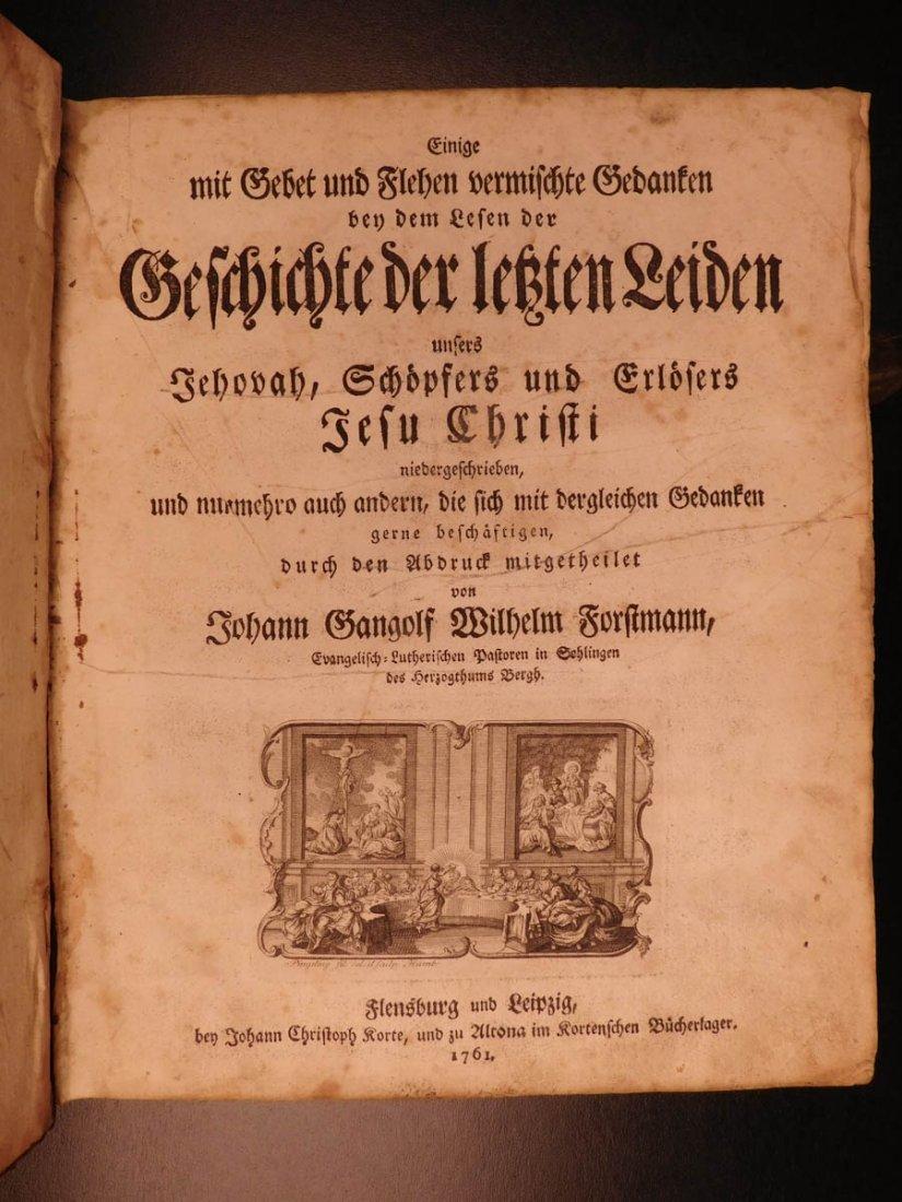 1761 German Lutheran Book Prayers Bible Jesus Flensburg - 3