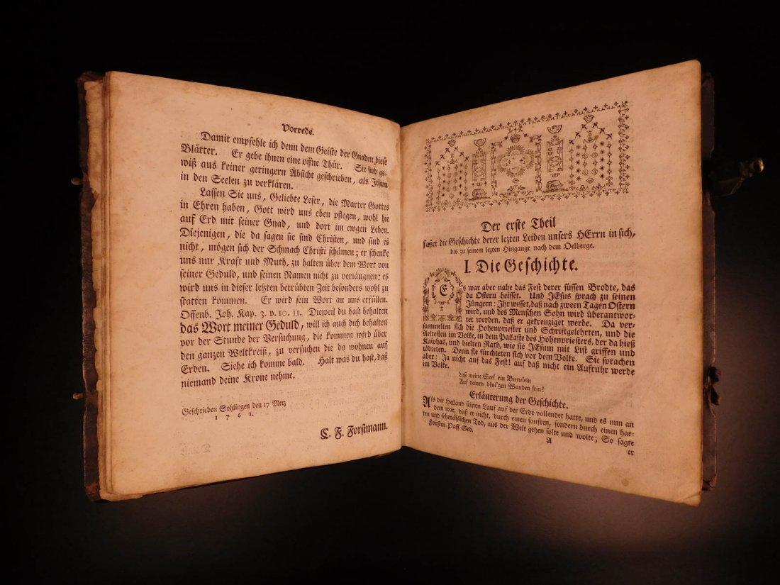 1761 German Lutheran Book Prayers Bible Jesus Flensburg - 5