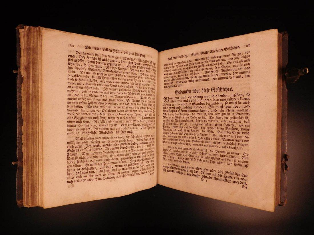 1761 German Lutheran Book Prayers Bible Jesus Flensburg - 6