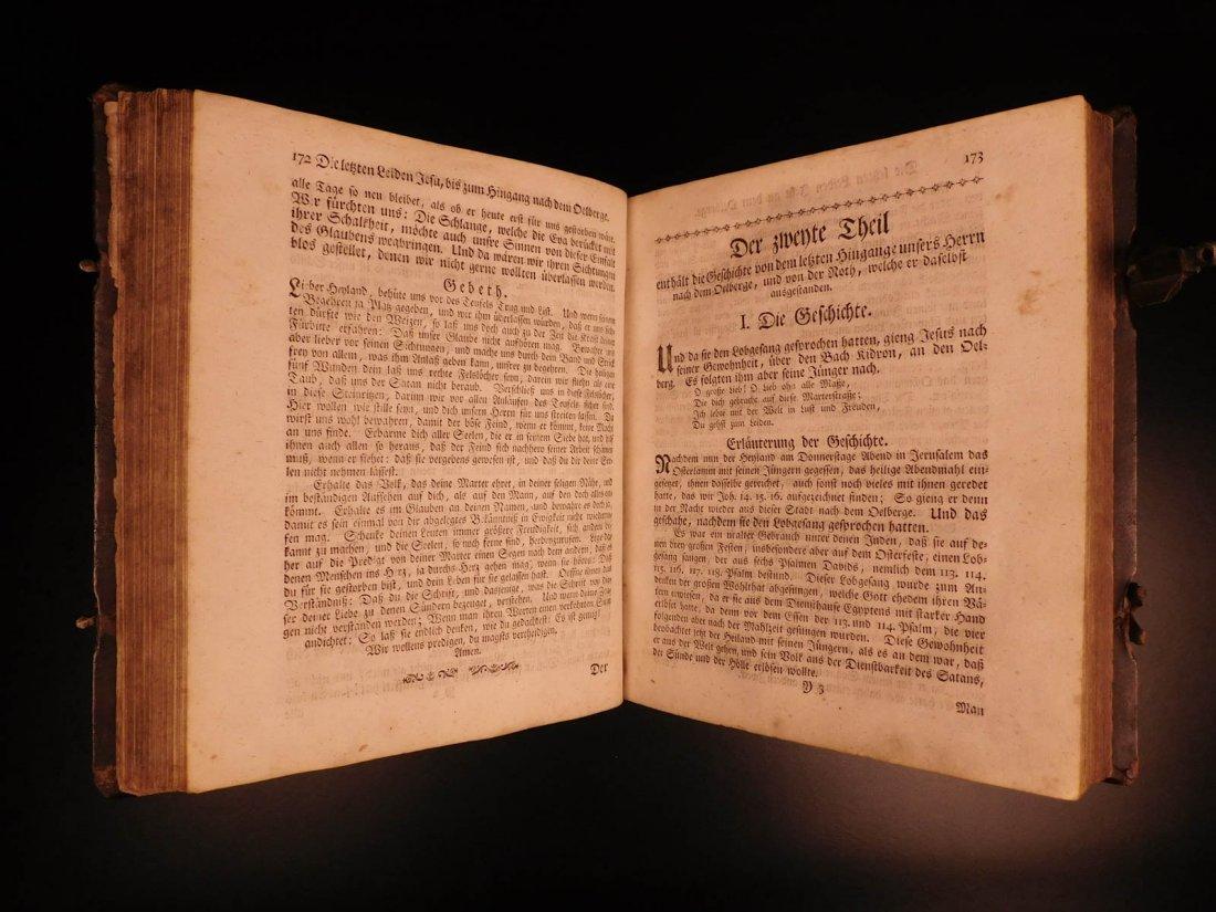 1761 German Lutheran Book Prayers Bible Jesus Flensburg - 8
