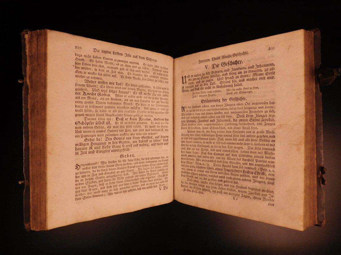 1761 German Lutheran Book Prayers Bible Jesus Flensburg - 9