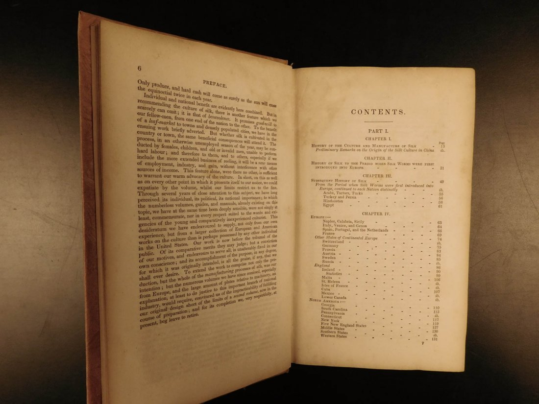 1839 SILK Mulberry Tree & Silkworm New England INDIANS - 4