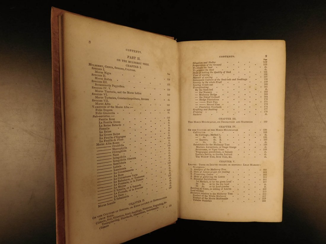 1839 SILK Mulberry Tree & Silkworm New England INDIANS - 5