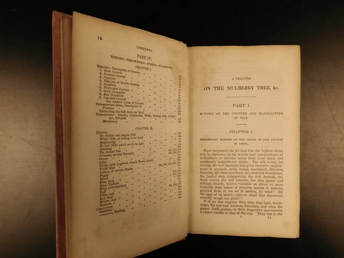 1839 SILK Mulberry Tree & Silkworm New England INDIANS - 7